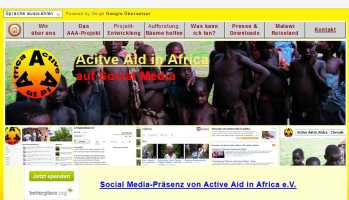 Active Aid in Africa in Social Media