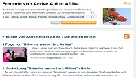 Active Aid in Africa in den Social Media